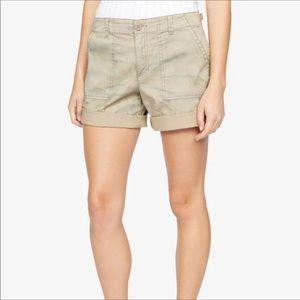 Sanctuary squad shorts- beige tie dye size 27
